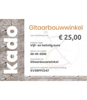 Gitaarbouwwinkel.nl - Kadobon ter waarde van €25,-