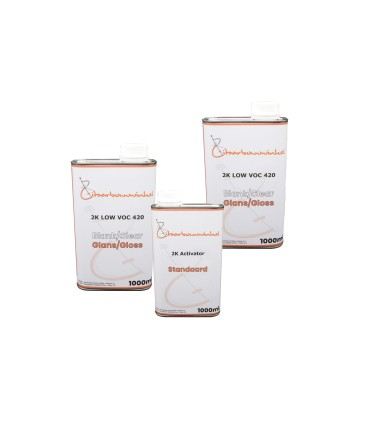 Gitaarbouwwinkel 2K Blanke lak - Hoogglans/mat Testpakket