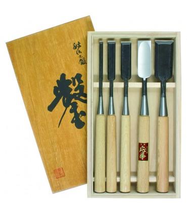 Hattori® Japanse beitels set van 5